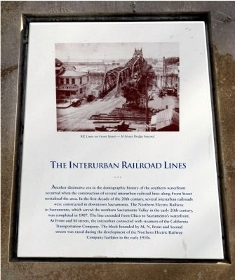 The Interurban Railroad Lines Marker image. Click for full size.