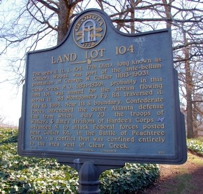 Land Lot 104 Marker image. Click for full size.
