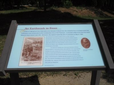 An Earthwork in Front Marker image. Click for full size.