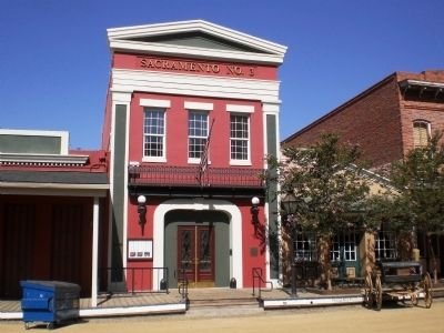 Sacramento Engine Company No. 3 Firehouse (Constructed 1853) image. Click for full size.