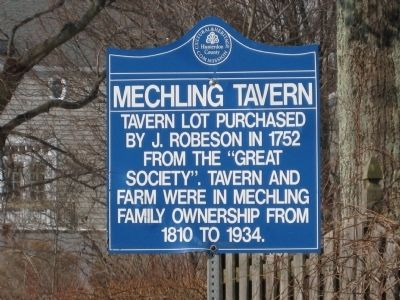 Mechlin's Tavern Marker image. Click for full size.