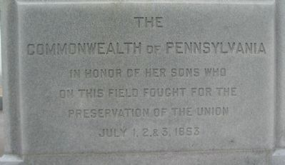 Left Front Inscription image. Click for full size.