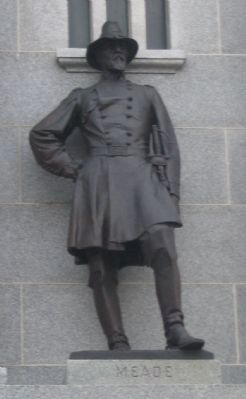 Statue of General Meade image. Click for full size.