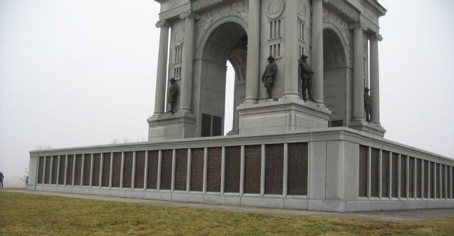 Base of Monument Showing the Regimental Panels image. Click for full size.