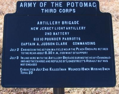 2nd Battery New Jersey Light Artillery Tablet image. Click for full size.