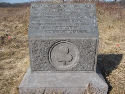 14th Regiment Connecticut Volunteers Marker image. Click for full size.