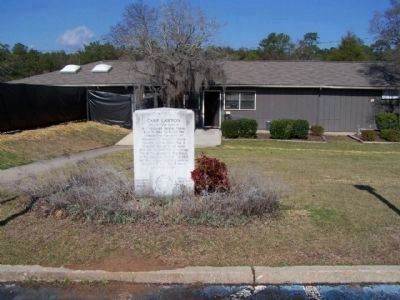 Camp Lawton Marker at Magnolia Springs State Park HQ image. Click for full size.