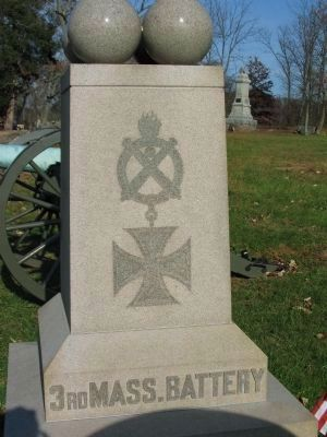 3rd Massachusetts Battery Monument image. Click for full size.