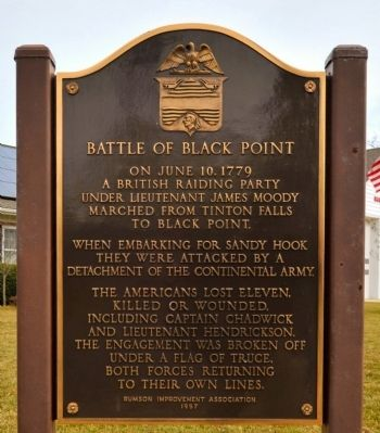 Battle of Black Point Marker image. Click for full size.