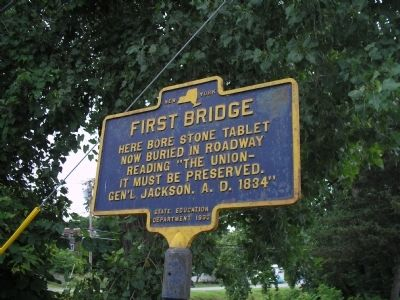 First Bridge Marker image. Click for full size.