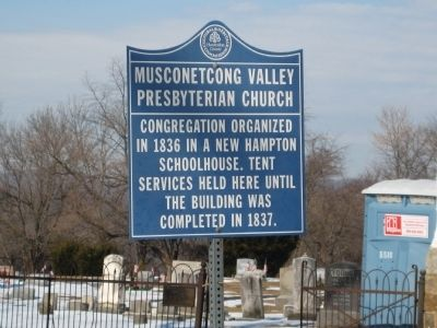 Musconetcong Valley Presbyterian Church Marker image. Click for full size.
