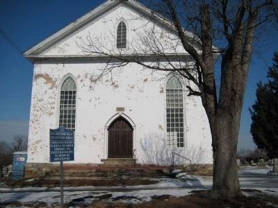 Musconetcong Valley Presbyterian Church and Marker image. Click for full size.