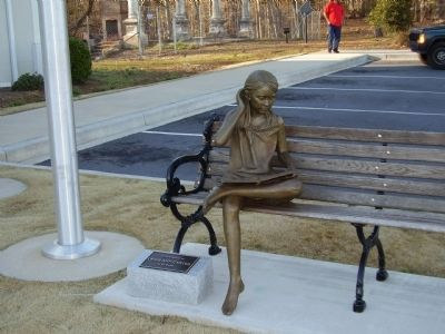 Bench Sculpture at the Library image. Click for full size.