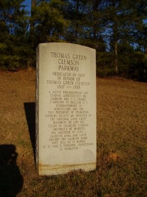 Thomas Green Clemson Parkway Marker image. Click for full size.