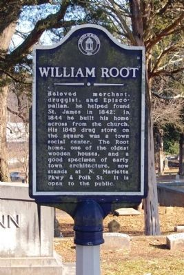 William Root Marker image. Click for full size.