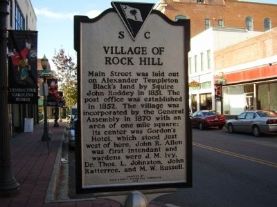 City of Rock Hill Marker image. Click for full size.