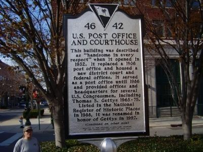 U.S. Post Office and Courthouse Marker image. Click for full size.