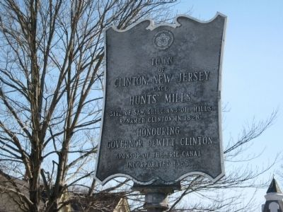 Town of Clinton, NJ Marker image. Click for full size.