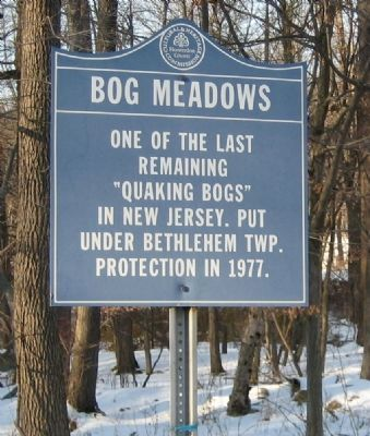 Bog Meadows Marker image. Click for full size.
