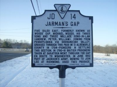 Jarman's Gap Marker image. Click for full size.
