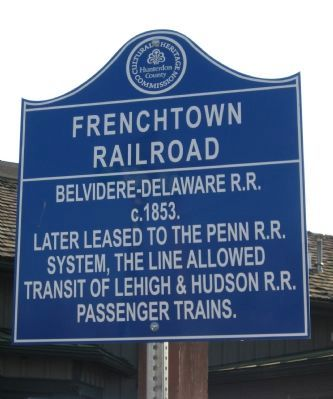 Frenchtown Railroad Marker image. Click for full size.