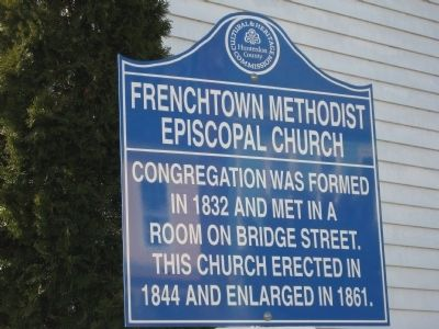 Frenchtown Methodist Episcopal Church Marker image. Click for full size.