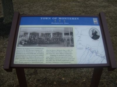 Town of Monterey Marker image. Click for full size.