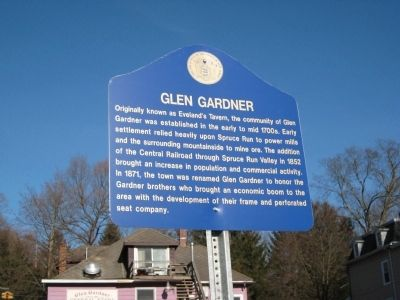 Glen Gardner Marker image. Click for full size.