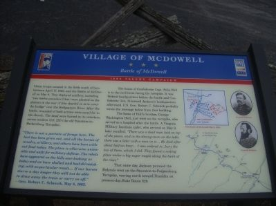 Village of McDowell Marker image. Click for full size.