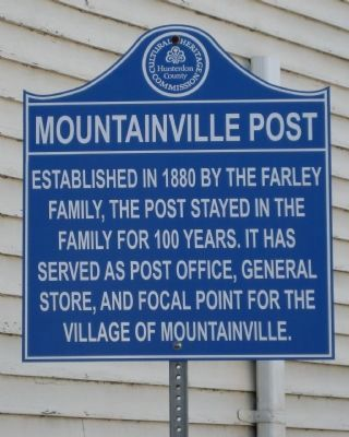 Mountainville Post Marker image. Click for full size.