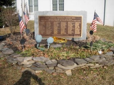 East Amwell Veterans Honor Roll Marker image. Click for full size.