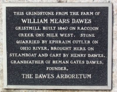William Mears Dawes Gristmill Marker image. Click for full size.
