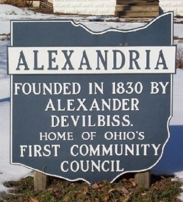 Alexandria Corporate Limit Marker image. Click for full size.