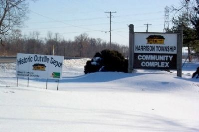 Entrance to Harrison Township Community Complex and Depot image. Click for full size.