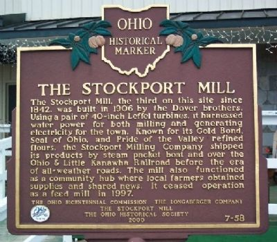 The Stockport Mill Marker image. Click for full size.