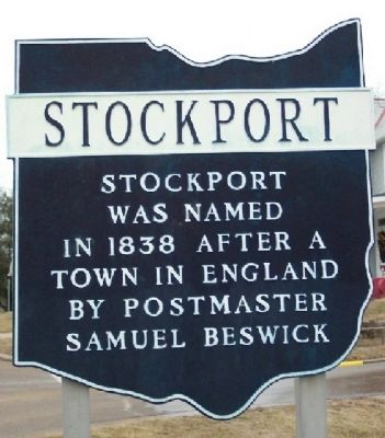 Stockport Corporate Limit Marker image. Click for full size.