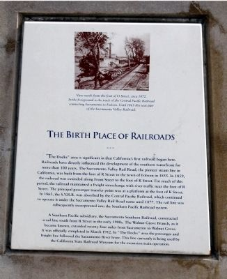 The Birth Place of the Railroads Marker image. Click for full size.