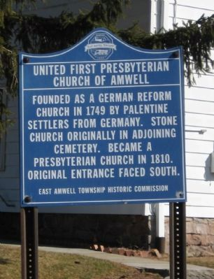 United First Presbyterian Church of Amwell Marker image. Click for full size.