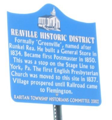 Reaville Historic District Marker image. Click for full size.