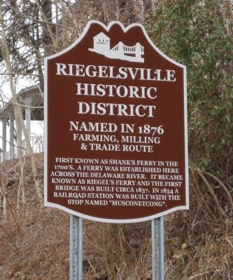 Riegelsville Historic District Marker image. Click for full size.