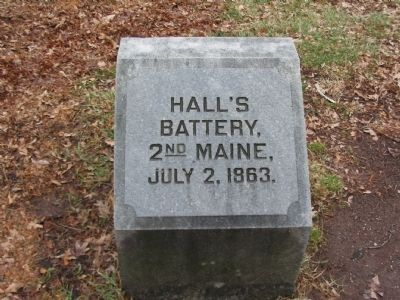 Hall's Battery Marker image. Click for full size.