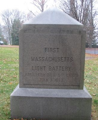 First Massachusetts Light Battery Monument image. Click for full size.