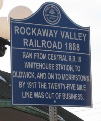 Rockaway Valley Railroad 1888 Marker image. Click for full size.