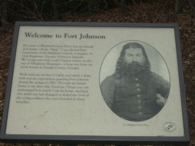 Welcome to Fort Edward Johnson Marker image. Click for full size.