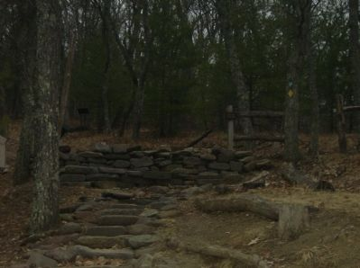 View of the walking path from the Welcome to Fort Edward Johnson Marker image. Click for full size.