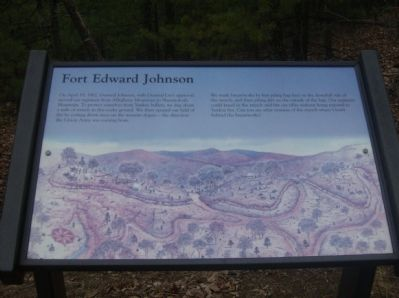 Fort Edward Johnson Marker image. Click for full size.