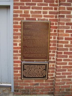 First Home of Winthrop College Marker image. Click for full size.