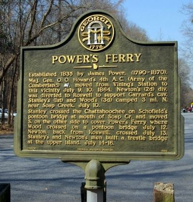 Power's Ferry Marker image. Click for full size.