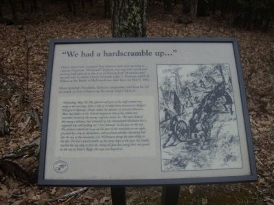 """We had a hardscrabble up…"" Marker image. Click for full size."
