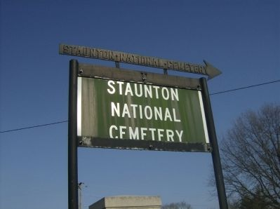 Entrance sign to the Staunton National Cemetery image. Click for full size.